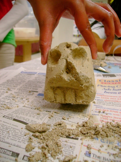 Faux Stone Carving
