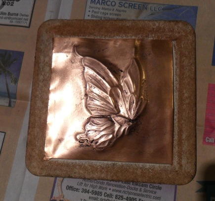 Metal Tooled Butterfly