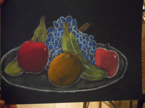 Still Life Pastel Drawing