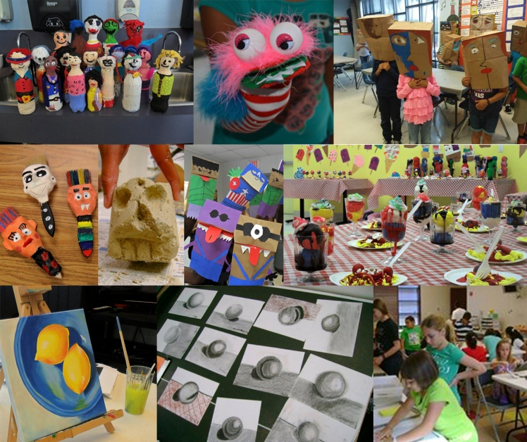 Summer Art Camps collage photo