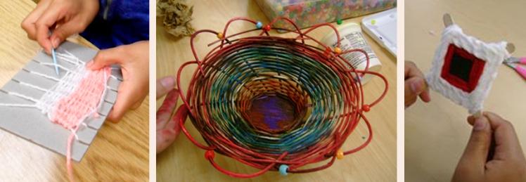 weaving student work website